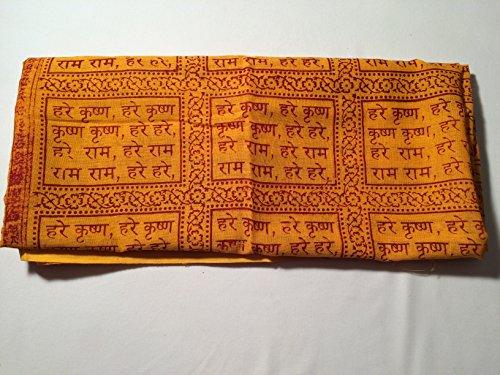 Baumwollschal Hare Krishna Hare Rama –Hare Krishna, japanischer Schal–Yoga Meditation