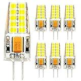 LEHXZJ G4 LED Lampen,3W Kaltweiß 300LM,Ersetzt 30W Halogenlampen ,20 X 2835 SMD LED,12V AC/DC,360°Abstrahlwinkel (6er-Pack)