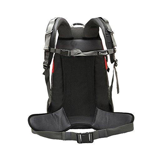 MAKINO Outdoor Sports Camping Wandern Wasserdicht Rucksack Daypacks Bergsteigen Tasche 40L 45L 50L Travel Trekking Rucksack mit Regen Cover Grün