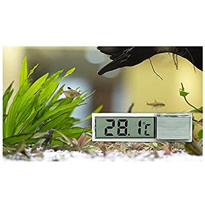 Thermometer - SODIAL(R)Mini Transparent digitale Thermometer LED Temperatur Meter fuer Aquarium
