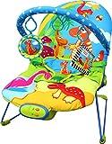 Just4baby Babywippe / Liegestuhl mit Musik und beruhigenden Vibrationen, mit 3hängenden Spielzeugen, Design: Dinosaurier