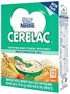 Nestlé CERELAC Infant Cereal Stage-4 (12 Months-24 Months) Multi Grain Dal Vegetable 300g