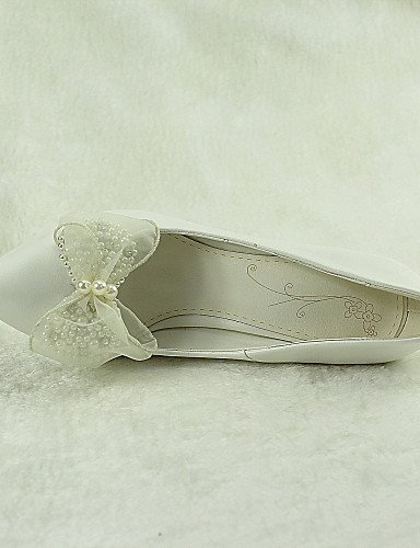 ShangYi Schuh Damen - Hochzeitsschuhe - Absätze / Spitzschuh - High Heels - Hochzeit / Kleid / Party & Festivität - Weiß 4in