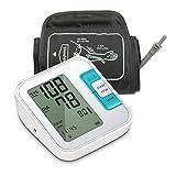 Oberarm Blutdruckmessgerät, Meerveil B21 Automatisches Elektronisches Blutdruckmessgerät,Arrhythmie-Erkennung, Standard-Manschette (22cm - 40cm), LCD-Großbild-Display und 2 User-Modus 2 * 120Speicher