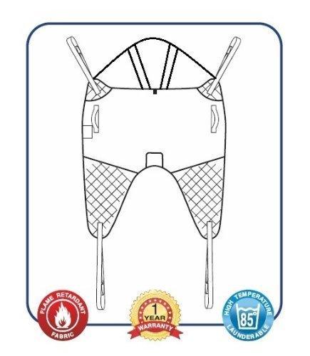 Mackworth imbragatura universale con cravatta allegato e supporto per la testa (grande, rete di poliestere)