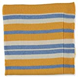 Merino Kids Bettwäsche, Kinderbettdecke aus Lammwolle, Yellow/Blue Stripe