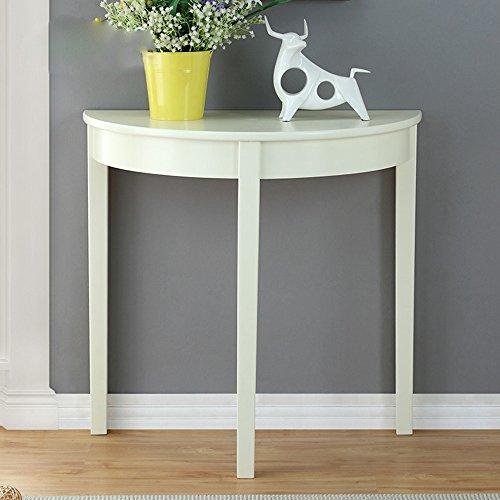 Jie ke consolle americana in legno massello, semplice consolle semicircolare, divano a pochi tavoli,