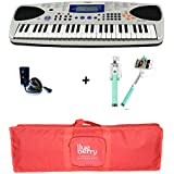 Casio MA150 Mini keyboard with Adapter & Blueberry Bag along with Selfie Stick