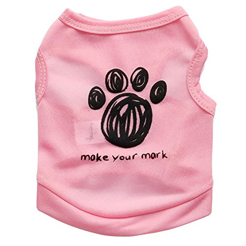 Robemon Hundebekleidung T Shirt, Classic Netter Sommer T-Shirt Vest Ärmellos Tank Top für Kleine Medium Puppy Dogs Katzen - Winter Classic Player