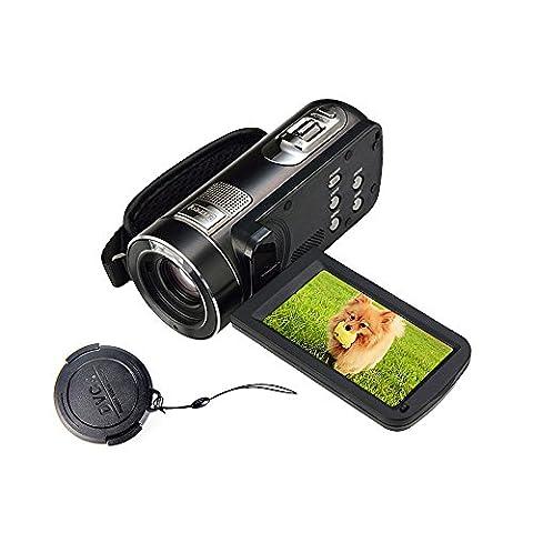 MARVUE 318 Voller HD Digital-Camcorder 1080p @ 30fps Maximales freies Verschiffen. 24.0 MP Vollfarbbildschirm für Low-Light-Videokamera-Recorder 3.0