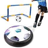 Amzdeal Air Fußball Set inkl.1 x luftkissen Fußball + Mini Fußball + Fußballtor + Ball Pumpe LED Beleuchtung und Musik Air Power Fußball Hover Ball Set