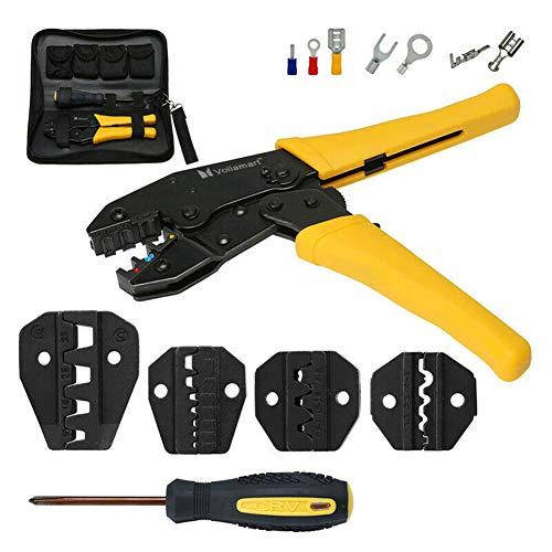 Crimper-kit (Ocamo Kabel Crimper Tool Kit Kabelklemme Ratsche Zange Crimp Set)