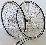 26 Zoll Fahrrad Laufradsatz REFLEX Hohlkammerfelge schwarz Shimano THX800 silber Niro silber