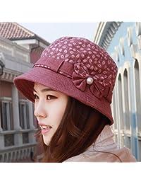 QIER-MZ Sombreros Sombreros de mujer Sombreros de tela Sombreros de  primavera verano Sombreros 4a75271f90b