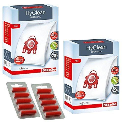 Hoover Staub (Original Miele FJM-HyClean 3D Effizienz Staubsauger Hoover Staub Staubsaugerbeutel (1, 2, 3, 4oder 5Boxen + optional Lufterfrischer) 2 Boxes + Fresheners)