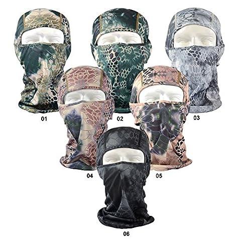Balaclava for Men Women - Beeway® Multi-Functional Full Half Open Face Mask Balaclavas for Outdoor Cycling Skiing Hiking Camping Motorcycling Helmet - Boa-Print, 6 Colors