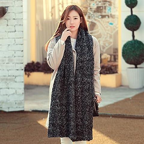 TXD Sciarpe a maglia moda donna, scialli, lavoro a maglia una sciarpa in inverno, di spessore, caldi sciarpe, bella sciarpa lavorata a maglia