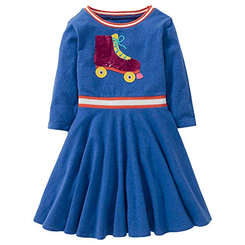 serliy Kinder Kinder Mädchen Frühling Bling Casual Cotton Long Sleeves Kleider Kleinkind Mädchen Prinzessin Weihnachten Jungen Jumpsuit Säugling Langarm-Bodysuits Baumwolle ()