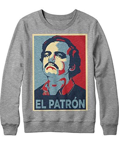 Kostüm Drogenhändler - Sweatshirt Pablo Escobar EL Patron C665424 Grau M
