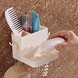 Type de suspension murale de plaque de succion pour support de salle de bains de brosse à dents, sans trou, sans savon à ongles, récepteur de savon, savon Porte-éponge pour salle de bain et cuisine