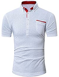 OHQ Camisa para Hombre Verano Tops Sin Mangas De Punto SóLido Delgado Hombres Cardigan Casual Slim Fit Camisas De Vestir… rblHolgH