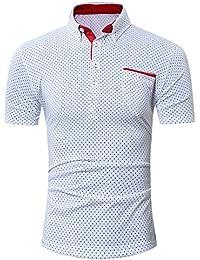 OHQ Camisa para Hombre Verano Tops Sin Mangas De Punto SóLido Delgado Hombres Cardigan Casual Slim Fit Camisas De Vestir…