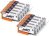 Start – 10 XL Ersatz Chip Patronen kompatibel zu Canon PGI-550BK PGI-550PGBK XL Schwarz, PGI 550 PG BK für Canon Pixma iP7250, iP8750, iX6850, MG5450, MG5550, MG6350, MG6450, MG7150, MX725, MX925