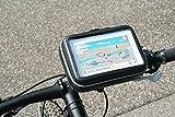 XiRRiX Tasche Halterung Hülle Motorrad Fahrrad für Navi Geräte bis 150 x 100 mm