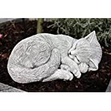 Statue chat endormi, sont expédiés, au gel jusque -30 °c , en massif pierre …
