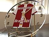FanPlastic 3. Liga Deutschland Fußball Tischuhr - Fußball - 3.Liga Fußball, JEDER Name & Jede Nummer - Neues Acryl Sh