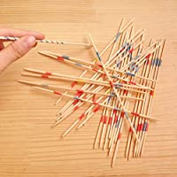 vbncvbfghfgh Baby Educational Wooden Traditional Mikado Spiel Pick Up Sticks Tool With Box Game Developing Math Ability