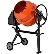 [in.tec]® Hormigonera eléctrica(140 litros - 2800 U/Min - 550W) mezclador de cemento mortero - naranja