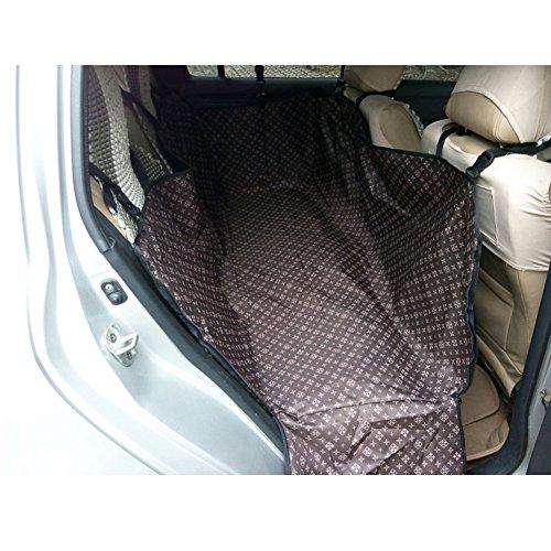 Artikelbild: Wasserdicht Oxford Haustier-Auto-Sitzabdeckung Hundematte für Rear Seat, Brown