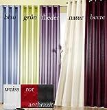Gardinen modern, Vorhang mit Ösen, Farbe Rot, Höhe 245cm x Breite 140cm, Ösenschal neu Typ118