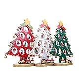 NUOLUX Albero di Natale in legno fai da TE natale ornamento tavolo scrivania decorazione (bianco)