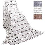 Bestlivings Fleece Decke mit Schrift 150x200cm Auswahl: Weiß - cremeweiß