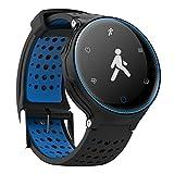 Kivors Pulsera Deportiva Inteligente Salud, IP68 Impermeable Pulsera Inteligente con Ritmo Cardíaco Monitor Podómetro Fitness Rastreador de Actividad para Android y IOS (Azul)