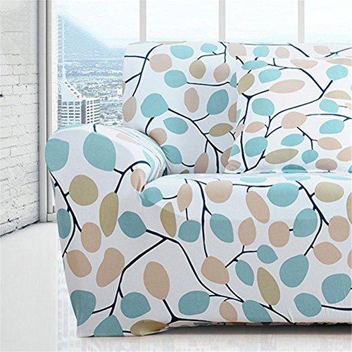 LianLe Sofabezüge Sofahussen Elastisch für Haus Büro Hotel Restaurant (3 Sitzer 190-230cm, D)