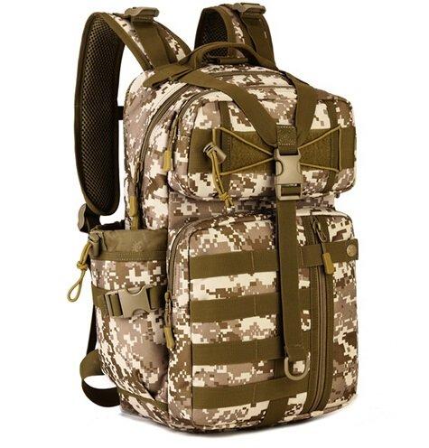Mefly Tattiche Zaino Borsa Attrezzatura Multifunzione Militari Esercito Sacchetto 30L Viaggio Borsa Scuola Pack Black desert digital