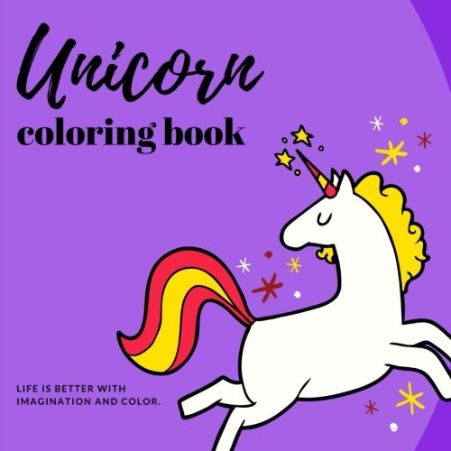 Unicorn Coloring Book: Fun and Stress Relieving Unicorn Coloring Pages