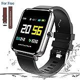 Zagzog Smartwatch, Sport Fitness Uhr 1,54 Zoll Voller Touch Screen Fitness Armband IP68 Wasserdicht Fitness Tracker mit Schlaftracker Schrittzähler für Herren Damen Smart Watch für iPhone/Android