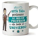 Taza profesor/Mug - El mejor profesor del universo - Regalos originales para profesores y maestros - Cerámica 350 ml/11oz