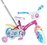 Volare Bicicleta Infantil Niña Chica 10 Pulgadas Peppa Pig Conducción Delantera y Trasera Rosa