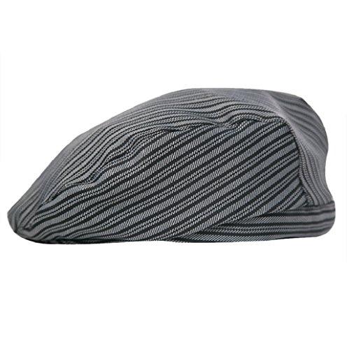 Dairyshop Cappello da cucina del cuoco unico di Catering della cucina degli uomini delle donne di modo cuffie del berreto di Duckbill (rosso vino) striscia di zebra