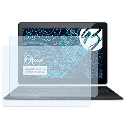 Bruni Schutzfolie kompatibel mit Odys Winpad 12 Folie, glasklare Bildschirmschutzfolie (2X)
