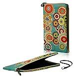 Pochette de téléphone portable élégante avec fermeture à glissière Soft Case Etui motif 'fleurs' adapté pour BlackBerry KEYone - Zipper protection manchon sac