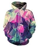 EOWJEED Unisex Casual 3D Printed Sweatshirt Pullover Hoodie Medium
