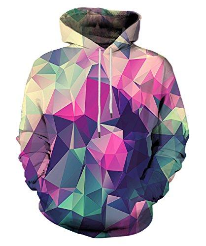 EOWJEED Unisex Casual 3D Printed Sweatshirt Pullover Hoodie Medium (Sweatshirt Printed Crewneck)