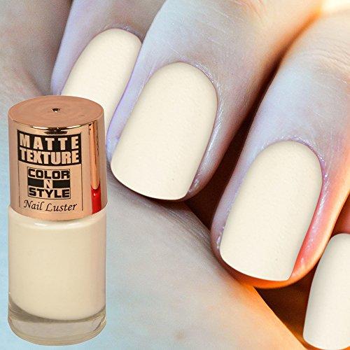 Color N Style Matte Texture Nail Paint, White