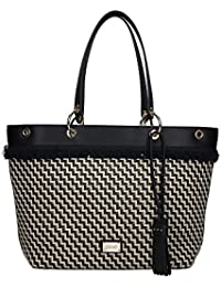BORSA DONNA LIU-JO SHOPPING TOTE BAG MOD VIRGINIA L COL. NERO  LINO f93432d2752